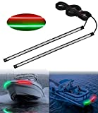 Evertine LED Boat Bow Navigation Light Kits, 13 Inch Red and Green Marine Light Strip Accessories for Pontoon Boat Dinghy Kayak Yacht Jon Bass Duck Hunting Boat, 1 Pair