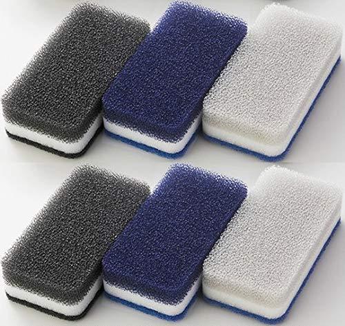 ダスキン台所用スポンジ3色セットモノトーンN新色ネイビー抗菌タイプ6個(3個セットX2パック)