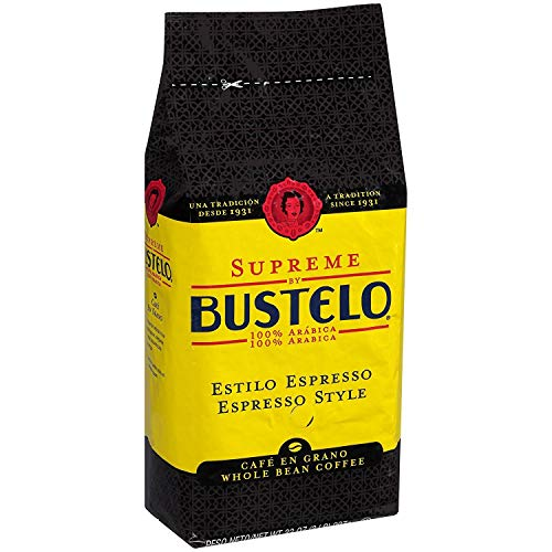 Cafe Bustelo Supreme Whole Bean Espresso Coffee, 32-Ounce Bag (2 Pounds)