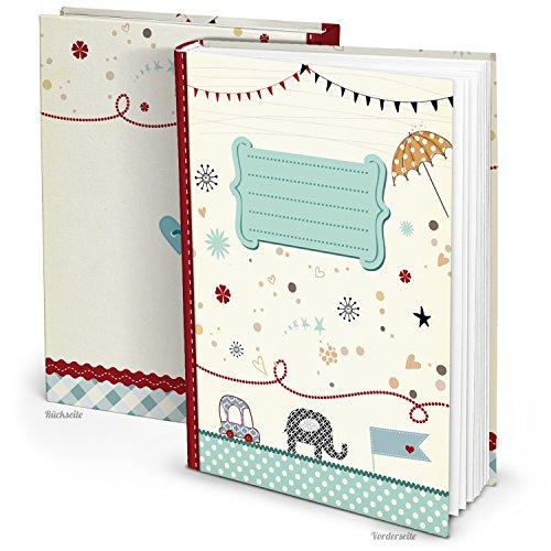 Blauw turquoise XXL babydagboek olifant auto jongen meisjes baby dagboek eerste jaar boek babyboek geschenk ouder geboorte kinderdagboek DIN A4 kinderboek doop kinderverjaardag