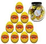 10 huevos de crema de mantequilla de maní Reese's de 34 g con botella.