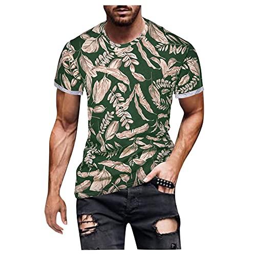 GBEN Casual hombre con impresión vintage personalizada, camisa retro estampada de manga corta para hombre moda manga corta primavera verano