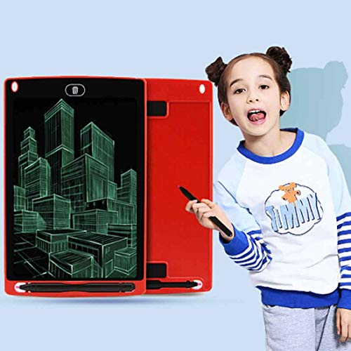 Paulclub Chuyi 8,5-Zoll-LCD Writing Tablet Elektronische Graphic Board E Writer Paperless Digitale Zeichnung Notepad for Home Office, Schreiben, Zeichnen (Schwarz) QiuGe (Color : Red)