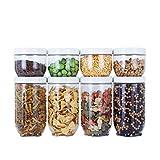 DJYD - Contenitore per conservazione, contenitore per cereali e secchi, con coperchio FDWFN