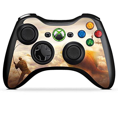 DeinDesign Skin kompatibel mit Microsoft Xbox 360 Controller Folie Sticker Fisch Goldfisch Angeln