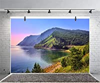 Qinunipoto 背景布 撮影布 背景紙 撮影 背景 写真 布背景 ドール 自然の風景 緑の風景 バイカル風景 紫の夕日 山頂 芸術写真撮影 新生幼児 カスタマイズ可能な背景 実家写真館 ビニール 背景紙 2.1m x 1.5m