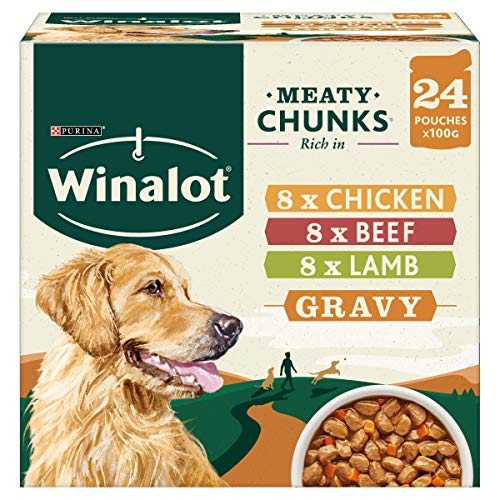 WINALOT Dog Food Pouches Mixed in Gravy 24 x 100 g