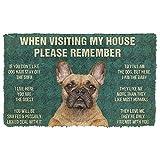 Door mat 3D Printing Floor mat Area mat Puppy pad 3D Please Remember French Bulldog Dog's House Rules Doormat Bathroom mats Living Room mats Absorbent mat Christmas