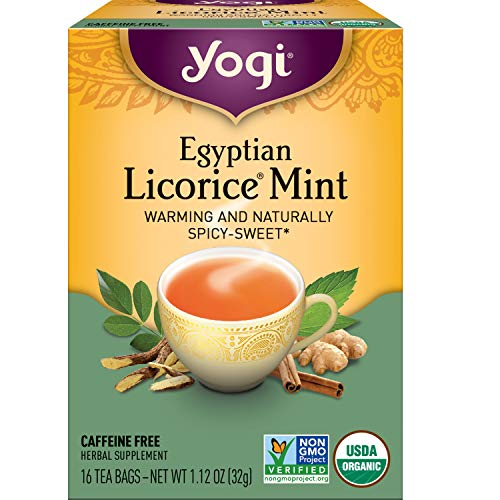 Yogi Tea - Egyptian Licorice Mint (6 Pack) - Warming and Naturally Spicy Sweet - 96 Tea Bags