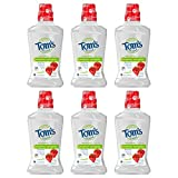 Tom's of Maine Children's Anticavity Fluoride Rinse Mouthwash, Silly Strawberry, 16 oz. 6-Pack