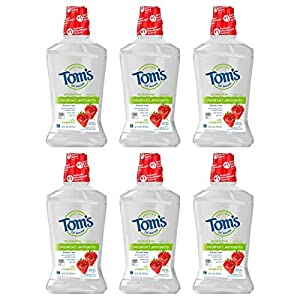 WHAT YOU'LL GET: Six 16-ounce bottles of Tom's of Maine Children's Anticavity Mouth Rinse in Silly Strawberry Flavor CAVITY PROTECTION: Fluoride mouthwash for kids helps clean hard-to-reach areas and prevent cavities FRESHENS BREATH: Fight bad breath...