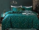 Opcloud Bedding Duvet-Cover-Set, King Green...