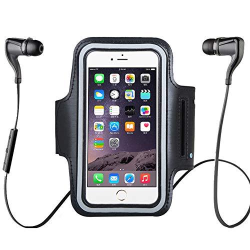 DISKY wasserdichte Handy-Armband für iPhone XS Max für Samsung S10 für Verschiedene Handys, verstellbares Gummiband, Schlüsselhalter für Laufen, Wandern, Outdoor-Sport (XL)