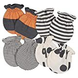 Grow by Gerber Baby Boys Organic 4-Pack Mittens,...