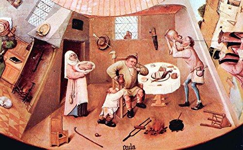 The Museum Outlet – Table avec les scènes of the Seven Deadly Sins détail par Bosch – A3 Poster