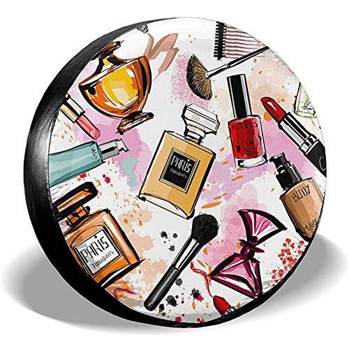 Tonesum Reserveradabdeckung Zubehör Universal Reserveradabdeckungen Kosmetik Make-up Muster Parfüm...