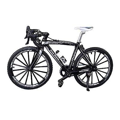 YEIBOBO ! Alloy Mini Bicycle Toy - Finger Bike for Collections (Bent Handlebar Racing Bike Black)