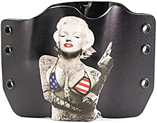 Marilyn Monroe Kydex OWB holsters for more than 135 different handguns. Left & Right versions plus Speed Clips and Paddle Back available.