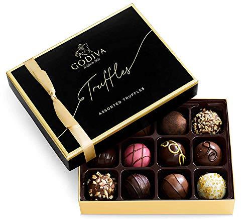 Godiva Chocolatier Signature Truffles Assorted Chocolate Gift Box , 8.1 Ounce, (Pack of 12)