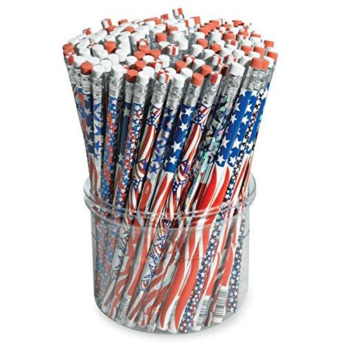 TCDesignerProducts Patriotic Pencils Tub of 144