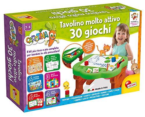 Liscianigiochi- Carotina Tavolino con Giochi educativi, Multicolore, 77458