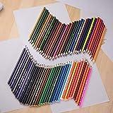 Juego de lápices de colores a base de aceite preafilados de 72 colores para niños y adultos, diseño de arte, suministros de arte para estudiantes o niños
