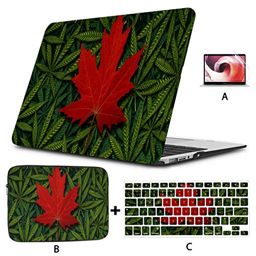 Macbook Pro 15 Cover Canadian Marijuana Concept And Canada Cannabis Law Macbook Pro 15 Accessories Hard Shell Mac Air 11'/13' Pro 13'/15'/16' With Notebook Sleeve Bag For Macbook 2008-2020 Version