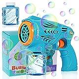Voastvy Bubble Machine, Bubble Gun, 2 Bottles of Bubble Water, Automatic Bubble Making Party Toy, Colorful Bubble Party Outdoor Activities, Children's Bubble Gun Gift.