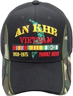 an Khe Vietnam Veteran Cap with Camoflage on The Bill