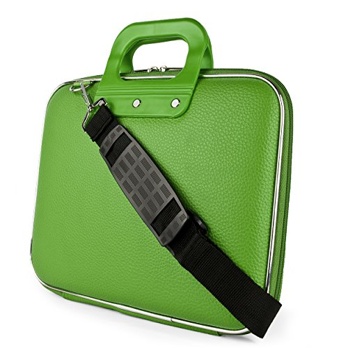 SumacLife Green Nostalgic Cady Carrying Case Bag Suitable for Amazon Fire HD 10 Tablet/HD 8 Kids Edition Tablet