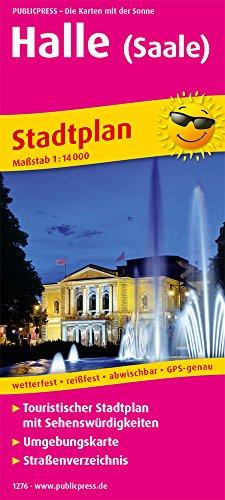 Halle (Saale): Touristischer Stadtplan mit Sehenswürdigkeiten und Straßenverzeichnis. 1:14000 (Stadtplan / SP)