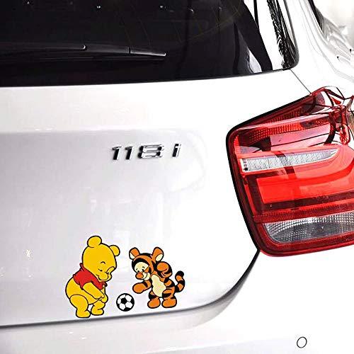 Winnie l'Ourson Autocollant Winnie L'Ourson Et Tigre Jouer Football Autocollant De Bande Dessinée De Football Et Stickers Autocollants De Voiture