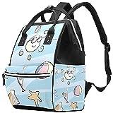 WJJSXKA Mochilas Bolsa de pañales Laptop Notebook Mochila de viaje Senderismo Daypack para Mujeres Hombres - Beach theme doodle set