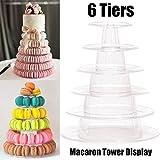 Tortenständer, 6 Etagen, rund, Macaron-Turm, transparentes Acryl, für Dessert und Speisen, zum Servieren von Gebäck
