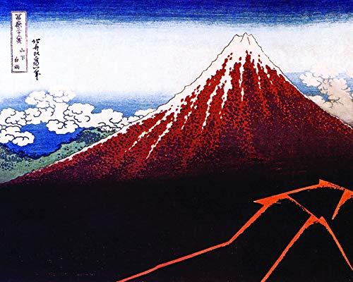 Culturenik Hokusai-MT.Fuji Black Fine Art Kunstdruck (gerahmt, 20,3 x 25,4 cm)