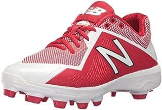 New Balance Men's 4040 V4 TPU Molded Baseball Shoe, Red/White, 13 D US