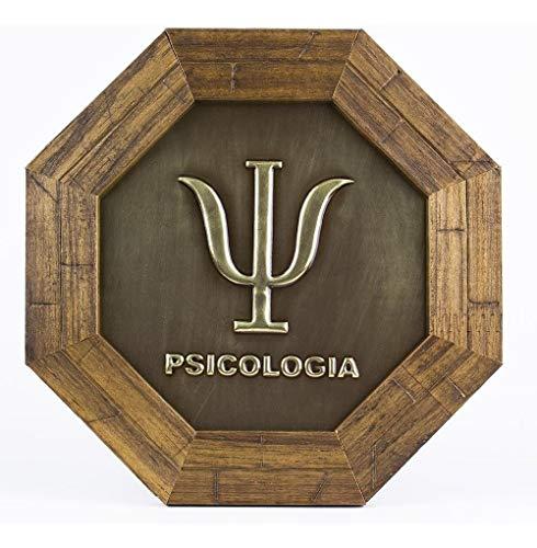 Quadro Oitavado Metal Profissão Psicologia Com Moldura