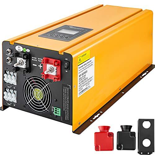 Mophorn Inversor de Corriente de Onda SINUSOIDAL Pura 3000W Nominal Pico de 9000W DC 24V AC 220V / 230V / 240V W/Cargador de CA de Batería Pantalla LCD a Color Convertidor de Energía Solar