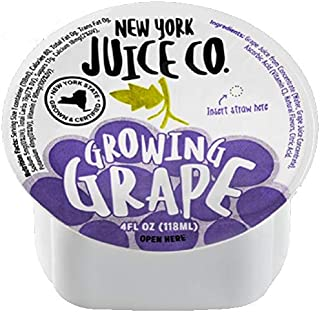 96 Pack of New York Juice Co. 100% Concord Grape Juice - 4 oz Cup