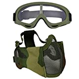 Fansport Paintball Maske, Airsoft Masken Softair Maske Mesh-Maske Airsoft Paintball Maske...