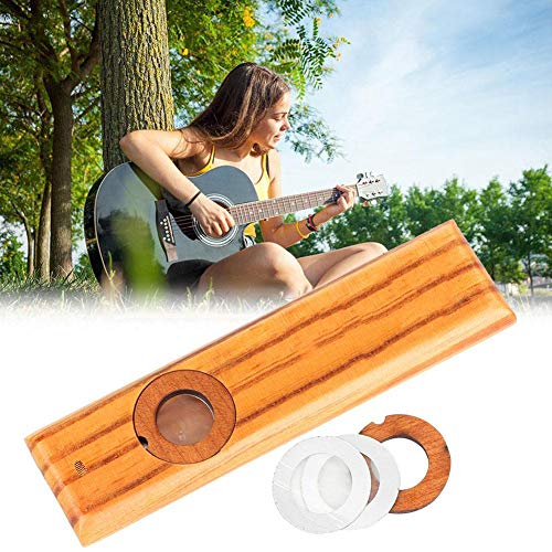 Wood Kazoo, Instrumento Musical clásico con Caja de Metal para Navidad Regalo...