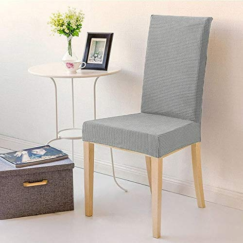 My Palace 1 Stück Stuhlbezug in grau/Grey/Stuhlbezüge/Stuhlhusse/Bezug für Stuhl/Bezüge für Stühle/elastische Stuhlhussen/Überzüge