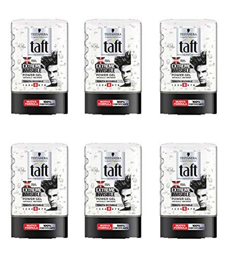 Lot de 6 gels Testanera Taft pour cheveux, 300 ml.