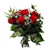 Ramo 6 rosas rojas - Ramo San Valentín enamorados - Flores Entrega 24h con tarjeta dedicatoria incluida