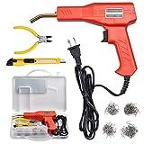Plastic Welder Kit for Bumper Repair, 50w Hot Stapler Welding Gun, Plastic Welding Repair Kit with Carry Case, 4 types of Staples, One Plier
