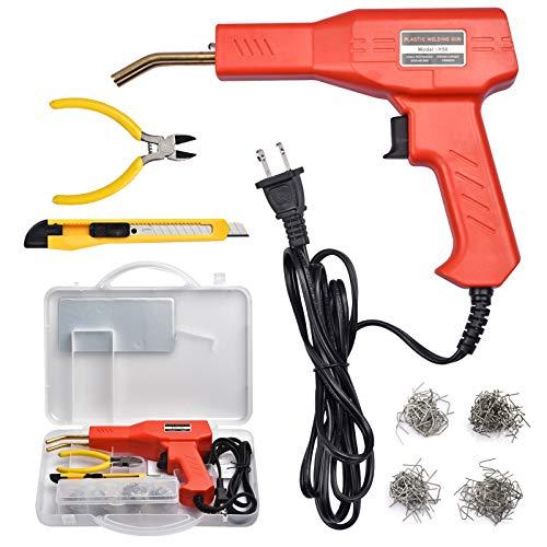 Plastic Welder Kit for Bumper Repair, 50w Hot Stapler Welding Gun, Plastic Welding Repair Kit with...