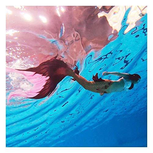 Coda da Sirena Bambina per Nuotare, Coda di Sirena per Piscina, per Costume Nuoto del Bikini Set, Regali per Ragazze(Color:Style-B)