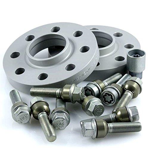 TuningHeads/H&R .0424207.DK.957161-15.996 ABE Spurverbreiterung, 30 mm/Achse + Radschrauben + Felgenschlösser, 30 mm/Achse