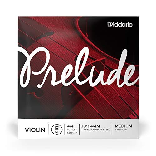 Corda Avulsa Para Violino MI Aço Estanhado Carbono Alta Densidade D'Addario Bowed Prelude J811 4/4M