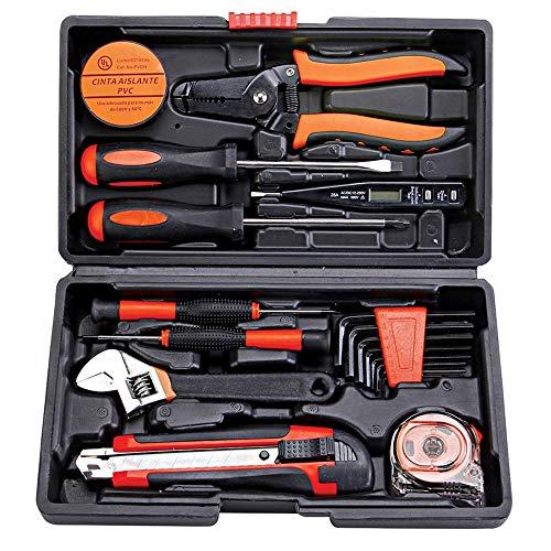 HXF- Juego de herramientas de telecomunicaciones para el hogar Hardware caja de herramientas combinación de herramientas herramienta manual reparación eléctrica regalo ordenado